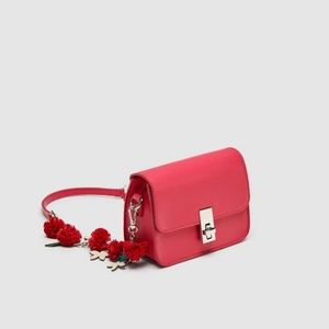 ZARA | Fuchsia Floral Mini Crossbody Bag
